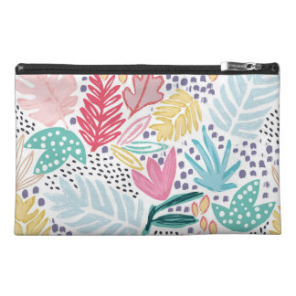 Tropical Shapes Collage Pattern Cosmetics Bag