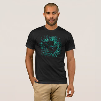 TROPICAL SHARK BLUE T-Shirt