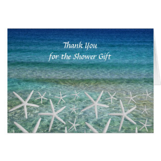 Tropical Shower Gift Thank You Note Cards