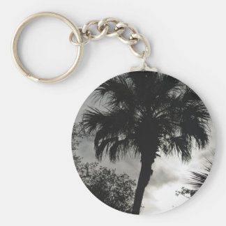 Tropical Silhouette Key Ring