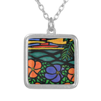 Tropical Silver Plated Necklace