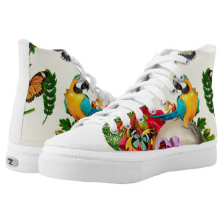 Tropical Skull Printed Shoes