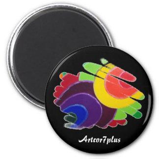 Tropical Spiralson Black  Magnet