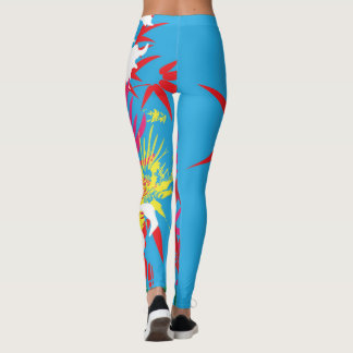 Tropical Splash Leggins Leggings