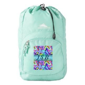 Tropical Splashes Custom Initials Backpack