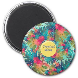 tropical spring 6 cm round magnet