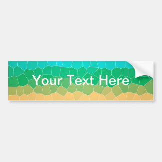 Tropical stained glass bumper stickers