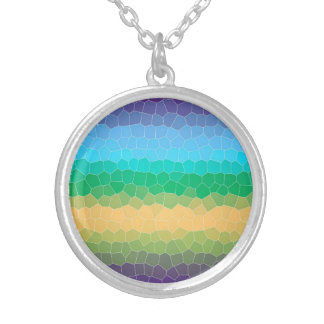 Tropical stained glass necklace