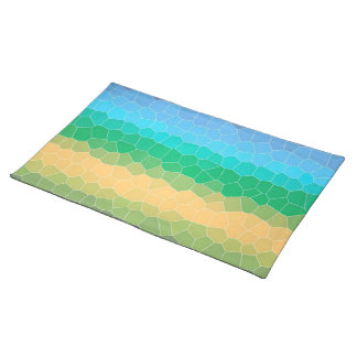 Tropical stained glass place mat