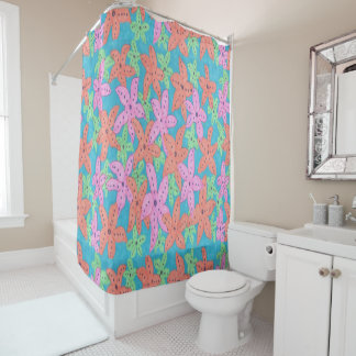 Tropical Starfish Shower Curtain
