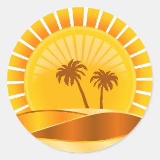 Tropical Sticker Round Stickers