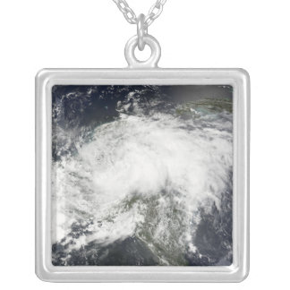 Tropical Storm Arthur Silver Plated Necklace