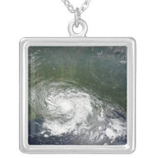 Tropical Storm Bertha Silver Plated Necklace