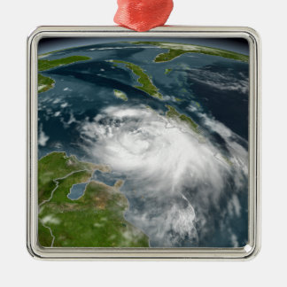 Tropical Storm Dennis Silver-Colored Square Decoration