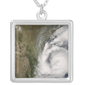 Tropical Storm Dolly Silver Plated Necklace