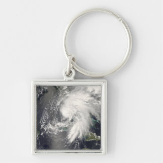 Tropical Storm Fay 2 Silver-Colored Square Key Ring
