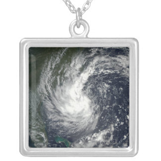 Tropical Storm Gustav 2 Silver Plated Necklace