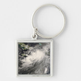 Tropical Storm Gustav in the Caribbean Sea Silver-Colored Square Key Ring