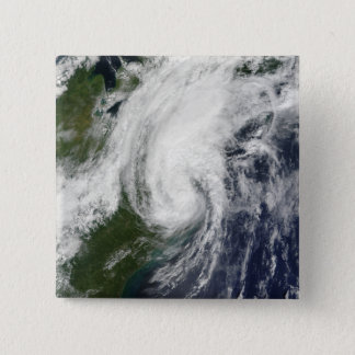 Tropical Storm Hanna over the East Coast 2 15 Cm Square Badge