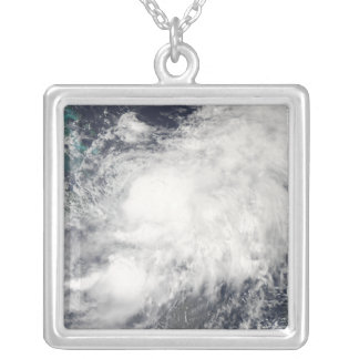 Tropical Storm Hanna Silver Plated Necklace