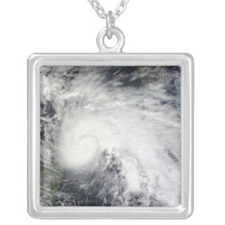 Tropical Storm Ida in the Caribbean Sea 2 Silver Plated Necklace