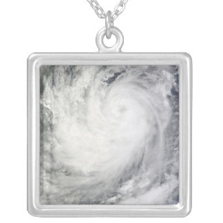 Tropical Storm Ketsana Silver Plated Necklace