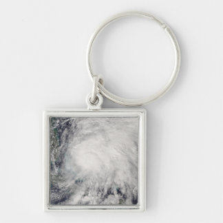 Tropical Storm Noel over the Bahamas Silver-Colored Square Key Ring