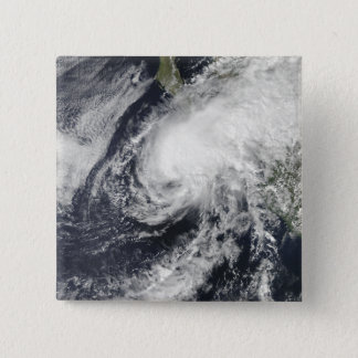 Tropical Storm Rick approaching Mexico 15 Cm Square Badge