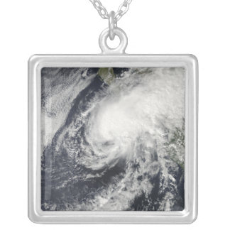 Tropical Storm Rick approaching Mexico Silver Plated Necklace