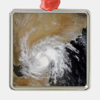 Tropical Storm Three in the northern Indian Oce Silver-Colored Square Decoration