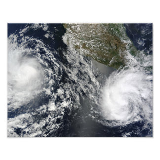 Tropical Storms Blas and Celia Photo Print