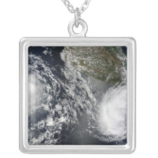 Tropical Storms Blas and Celia Silver Plated Necklace