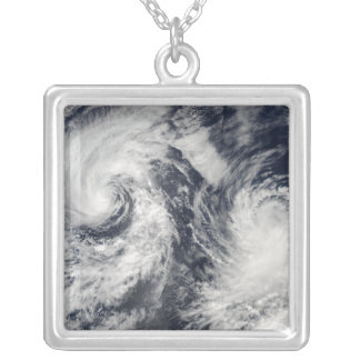 Tropical storms Boris and Cristina Silver Plated Necklace