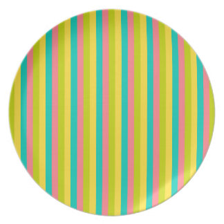 Tropical Stripes Dinner Plate
