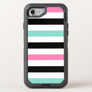 Tropical Stripes Pattern OtterBox Defender iPhone 7 Case