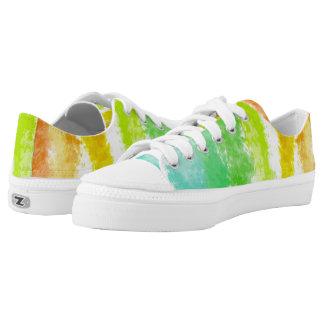 Tropical Stripes ZipZ Tennis Shoes Printed Shoes