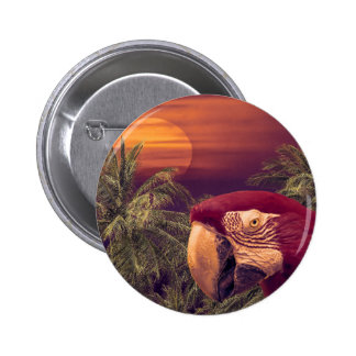 Tropical Style Collage Design Poster 6 Cm Round Badge
