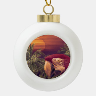 Tropical Style Collage Design Poster Ceramic Ball Decoration