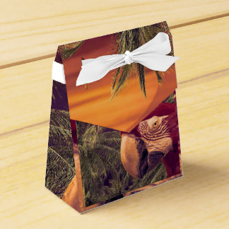 Tropical Style Collage Design Poster Party Favour Box