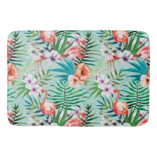Tropical Summer Bath Mat
