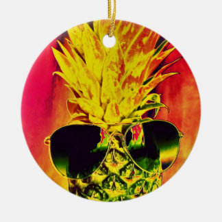 Tropical Summer Christmas Ornament