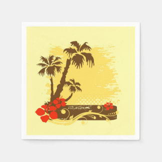 Tropical summer disposable napkin