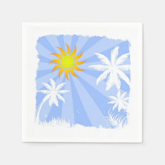 Tropical summer disposable napkins