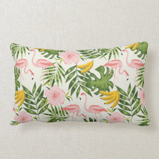 Tropical Summer Flamingo Throw Pillow