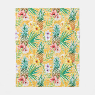 Tropical Summer Fleece Blanket