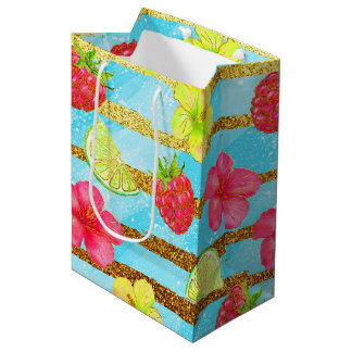 Tropical Summer glitter Medium Gift Bag
