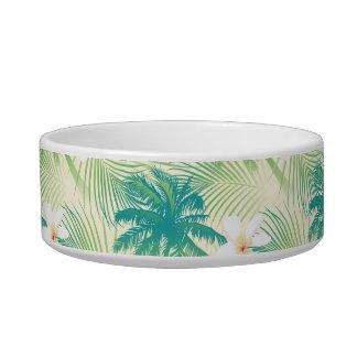 Tropical summer palm trees bowl