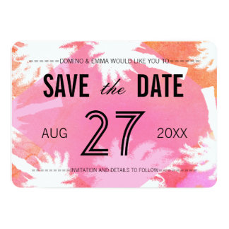 Tropical Summer Photo Save the Dates Card