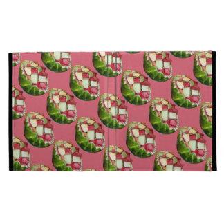 Tropical Summer Picnic Fruit Salad Pink Pattern iPad Folio Cover