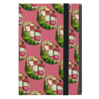 Tropical Summer Picnic Fruit Salad Pink Pattern Cases For iPad Mini